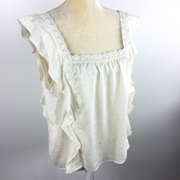 39849978a21354 Xhilaration Tops | Antique White Cami Top Lace | Poshmark